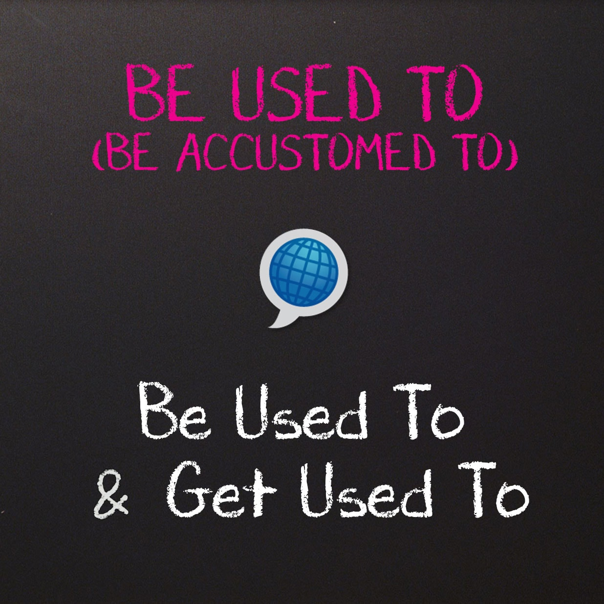 Be Used To and Get Used To