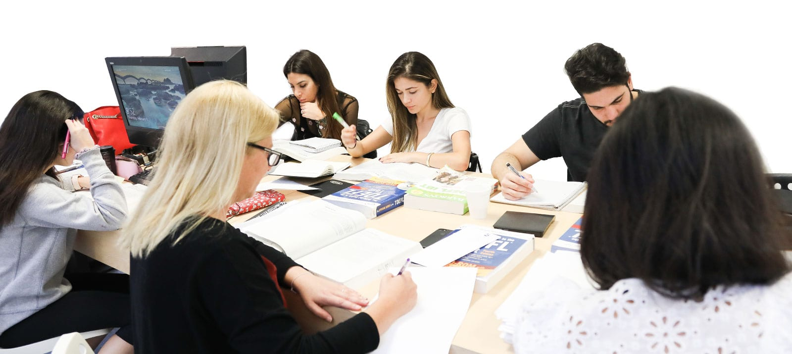 Students in Test Preparation Courses
