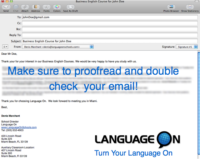 Learn How To Write Business Emails In English on Telling The Time In English